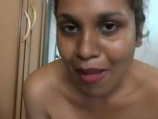 aunty bathing in front of the camera and massing her big ass