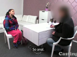 Castingxxx Brunette amateur fucks in casting