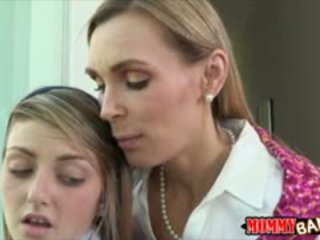 Tanya Tate Shared Cock With Pretty Staci Silverstone In Bed