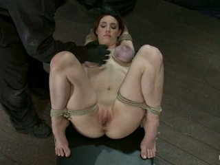 18 Years Old With Huge Natural Tits Is Bound Made To Cum Br Big Tits Brutally Tied And Punished