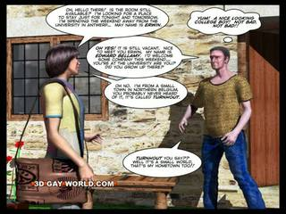 कक्ष के लिए किराया ३डी गे animated कार्टून comics
