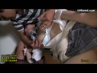 Cute schoolgirl forced threesome drilled