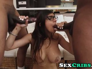 Two Monsters One Mia Khalifa Thumbzilla