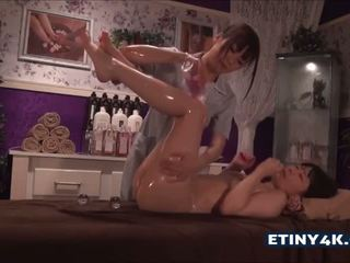 oil, asian girls, massage