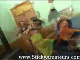 Three Arab Teens Dance