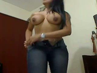 Sexy reusachtig boobed reusachtig bips gf teasing