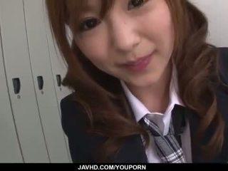 Miku airi aasialaiset koulutyttö blows a iso mulkku