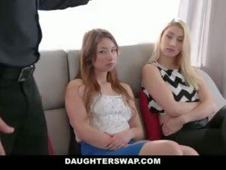 Daughterswap - tricking & futand lor tați în timpul mardi-gras