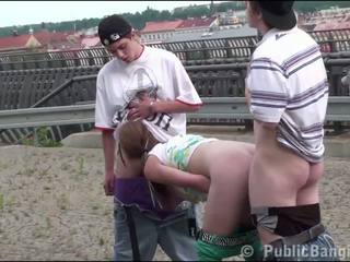 Cute Blonde Teen Alexis Crystal Public Gang Bang.