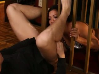 Caged Morgan Lee is Brought out to Play, Porn c5