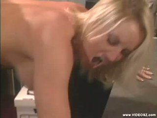Horny babe Calli Cox gets sprayed with a hot load of cum in her mouth