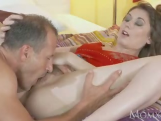 MOM Beautiful natural woman with hairy pussy gets creampie after hot 69