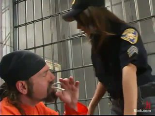 Sleaze Police Officer Gia Jordan Dominated And Made Love In The Butt Hole By Inmate