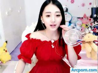 webcam, menina, chinês, asiático