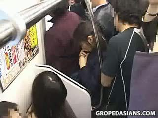Innocent Teen Groped To Orgasm On Train