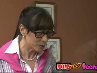 Huge boobs stepmom Alexandra Silk 3some