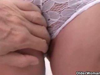 vibrator, masturbating, gilf, british