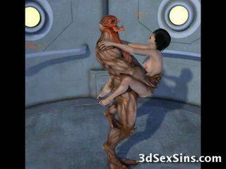 Creatures joder 3d scifi chicas!