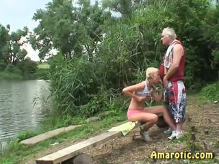 Old Man - Young Girl: Free Blonde Porn Video ea