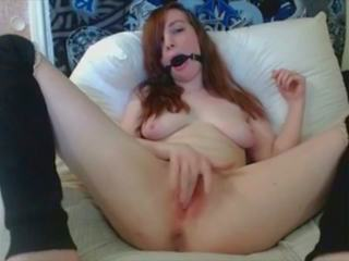 Hitachi Cum Show with Sexual Play Ball Gag: Free HD Porn 99