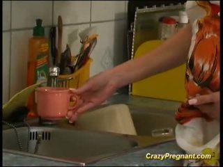 Extreem geil zwanger houswife