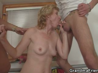 Sharing Skinny Old Lady with Small Tits, Porn 4c