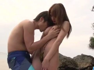 Nami Itoshino deals fat dick in superb outdoor sex show