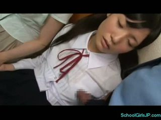 2 sleeping schoolgirls getting their pussy and tits rubbed
