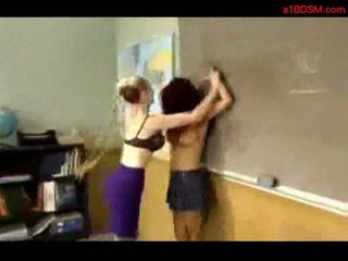 Schoolgirl getting her tits rubbed whipped slapped by mistre