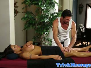 Bigtitted Cop Massaged and Seduced into Sex: Free Porn 1b