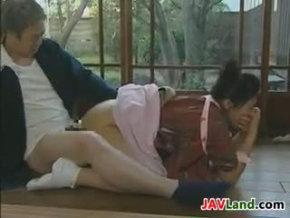 Young Japanese Maid And Her Old Boss