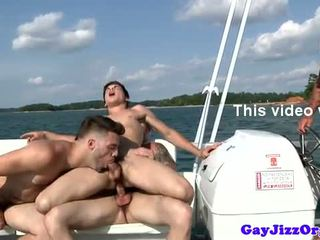 Johnny Rapids orgy cumshot on a boat