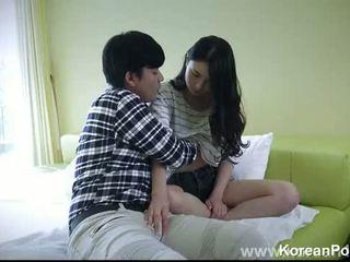 erótica, belo, encantador, coreano