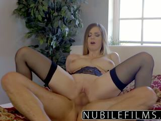 Nubilefilms - Stella Cox and Her Huge Tits Bouncing.