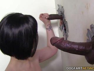 Larkin 愛 fucks ブラック cocks - 壁の穴: フリー 高解像度の ポルノの ed