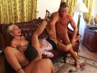 Sluty tanned babes with sexy curves caught in hot foursome party