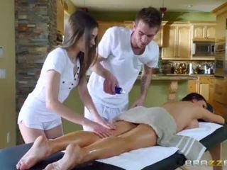 "Brazzers - Sexy threesome massage <span class=""duration"">- 7 min</span>"