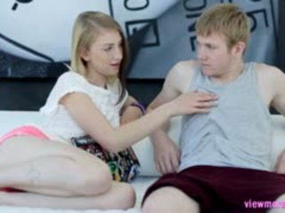 Puffy Nippled Teen Linda Gets Her Pink Pussy Banged On Couch