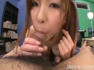 Japanese schoolgirl got creampied in pov style