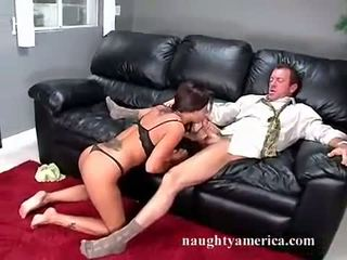 Pornstar Demi Delia enjoys her lovers cock in her mouth like a lollipop