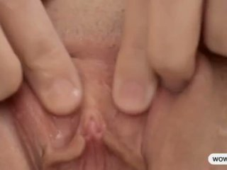 squirting, solo, blonde