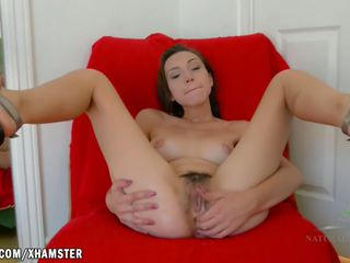 Amber Fingers Her Tight Ass and Horny Hairy Pussy: Porn 8a