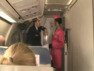 Blond stjuardess