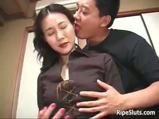 Gorgeous Mature Asian Bitch Sucks Part...