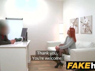 Fake agent sừng tóc đỏ prefers cứng con gà trống hơn mưa âm hộ