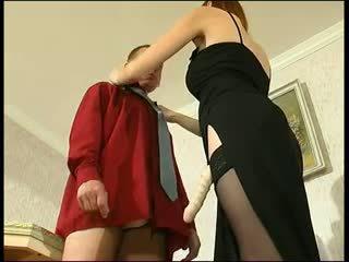 Redhead Russian Strapon Lady