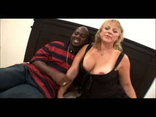 Hot amateur milf with amazing Boobs riding Big ebony Dick for money