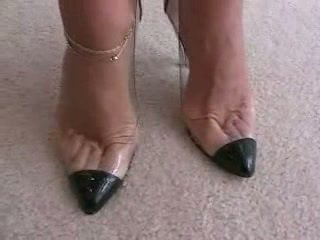 high heels, fetish kaki, footjob