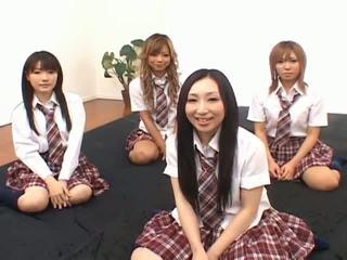 japonais, filles asiatiques, écolières