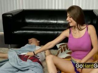 tata, obciąganie, masturbacja